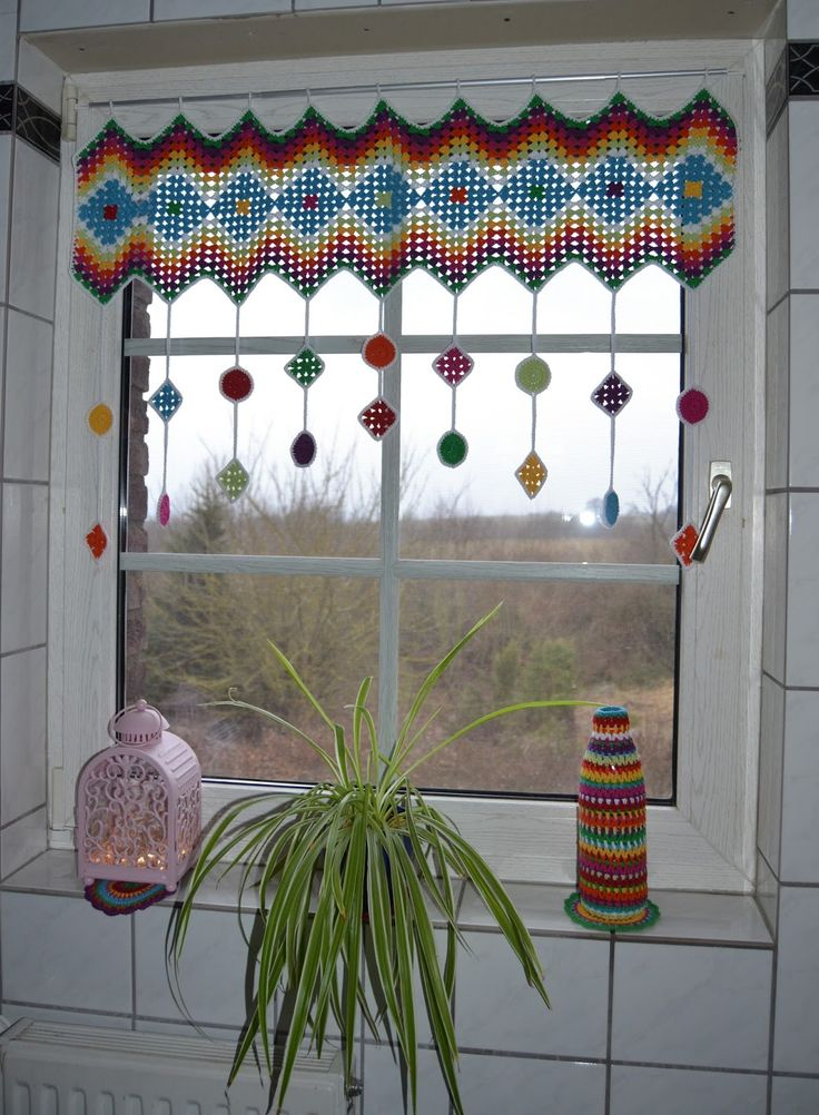 Atelier Marie-Lucienne: How-to Granny Square Curtain / Anleitung Granny Square G …