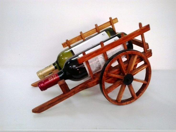 carrito botellero 2 botellas