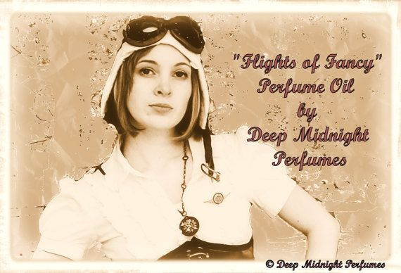 Deep Midnight Perfumes is my fave creator and seller of perfume. ~ Empress Bat .....................................  Flights of Fancy Perfume Oil by DeepMidnightPerfumes, $15.00  Main notes of mahogany wood, amber, lavender, brown sugar, oak, fruit.