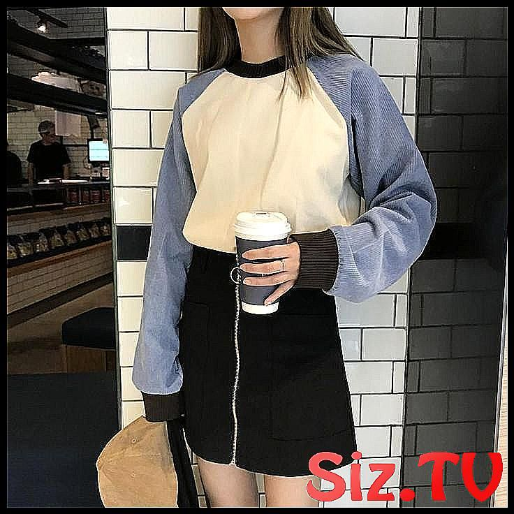 itGirl Shop CORDUROY SLEEVE O-NECK WARM OVERSIZED  #Aesthetic #apparel #Clothes …