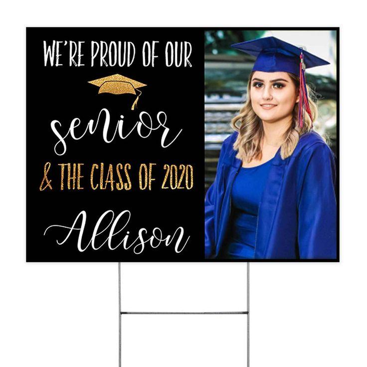 Custom proud of our senior graduation personalized yard