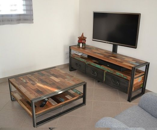 17 best ideas about meuble tv teck on pinterest meuble for Meuble teck recycle