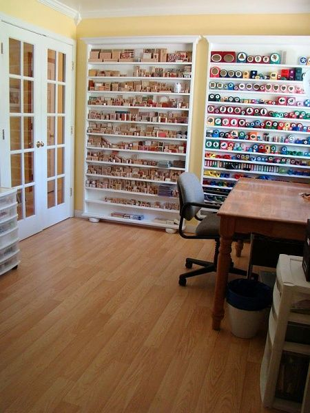 From http://www.diychatroom.com is a great idea for stamp and punch storage