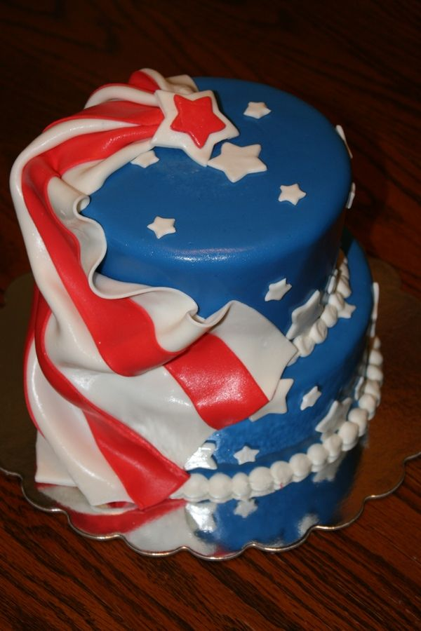 Our very own 4th of July cake — Independence Day (4th of July)