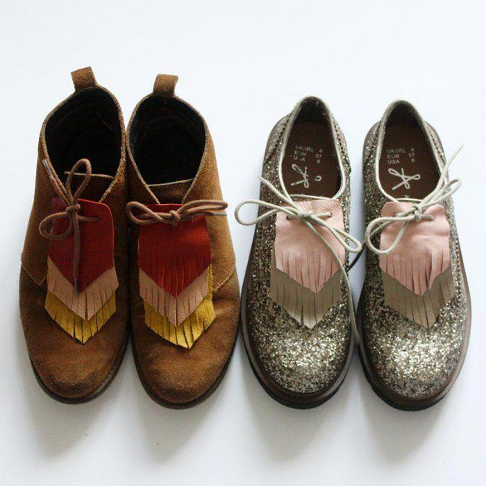 Customiser ses chaussures avec des franges en cuir