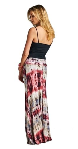 Damn girl, check you out! This ultra flattering maxi skirt highlights that amazing figure you didn't know you had. And you can wear this piece as a dress as well, talk about versatile. The lightweight fabric and muffin top free waistband adds up to a fantastically comfortable skirt/dress you won't want to take off.  Maxi skirt that converts into a strapless dress Mix stripe tie dye Banded Waist folds up or down Signature 'Muffin Top Free' Waistband Flowy fabric 95% Rayon 5% Spandex Pre-sale…