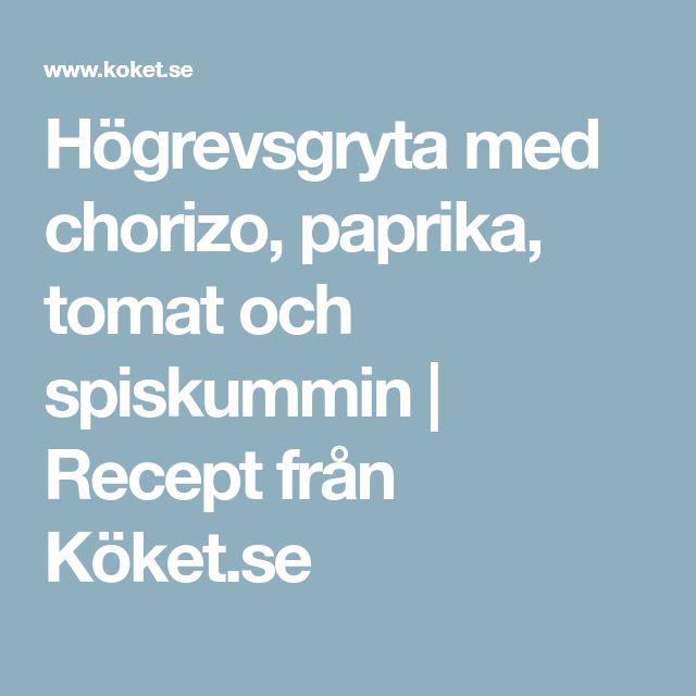 Högrevsgryta med chorizo, paprika, tomat och spiskummin | Recept från Köket.se