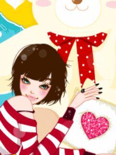 ingyenes aranyos mobiltelefon hátterű lányok Képek 2