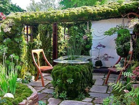 Классная идея оформления зоны отдыха на даче, берем на заметку