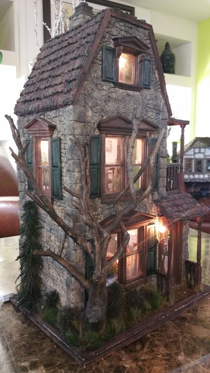 Awesome 17 Best Images About Haunted Houses In Miniature On Pinterest Largest Home Design Picture Inspirations Pitcheantrous