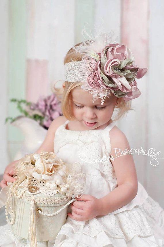 Shabby Chic headband Spring headbands baby girl by JLexiJolie, $28.99