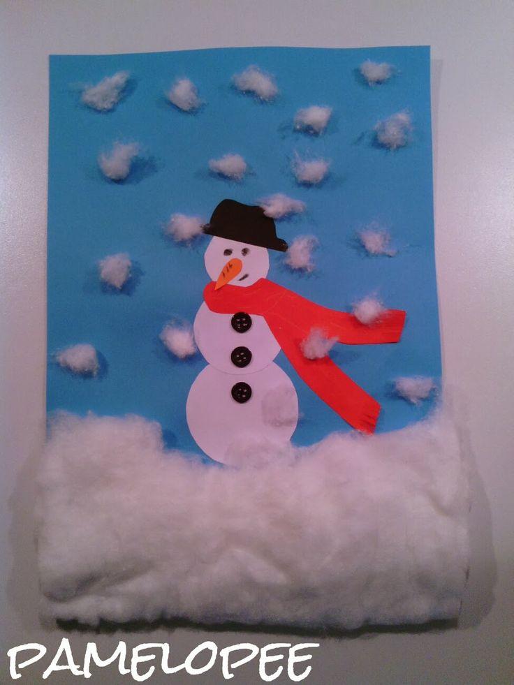Die besten 25 schneemann basteln mit watte ideen auf pinterest schneemann basteln watte - Basteln winter kindergarten ...