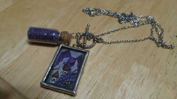 Here Be Dragons Purple Dragon Glitter Bottle by TheIdleHandsShop
