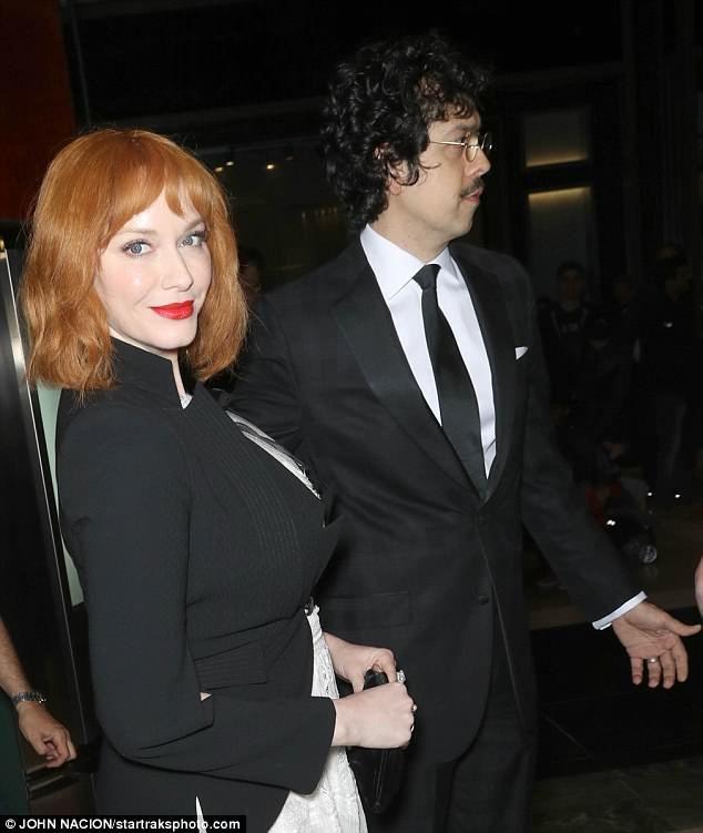 Christina Hendricks And Husband Geoffrey Arend At Nyc Gala