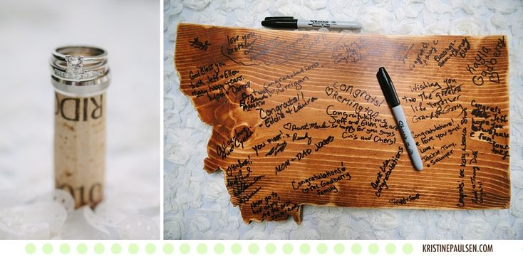 Fun guestbook! - Ellen and Jeff's Missoula, Montana Wedding at the Keep - Photographs by Kristine Paulsen Photography