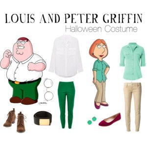 LOUIS AND PETER GRIFFIN HALLOWEEN COSTUME