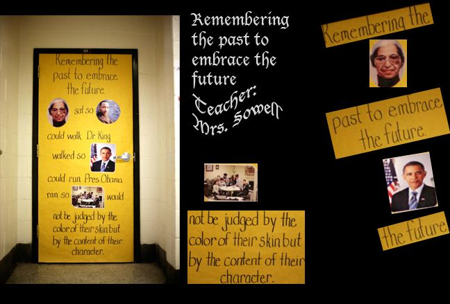 classroom decorating for history | Black History Month Door Contest… Welcome! | Xcrushingbelialx's Blog