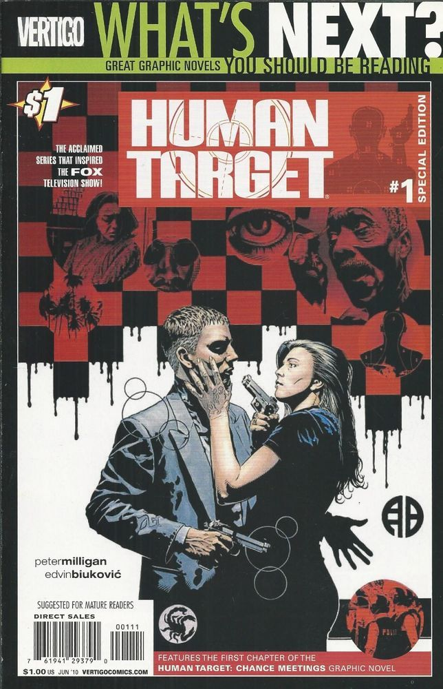 Human Target comic issue 1 Promotional edition