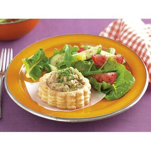 Chicken and asparagus vol-au-vents recipe - By recipes+