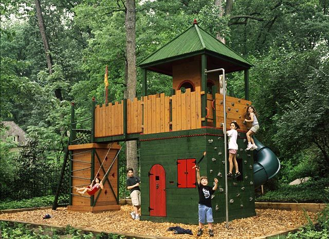 backyard fort diy playground kid forts play fort play structures kids