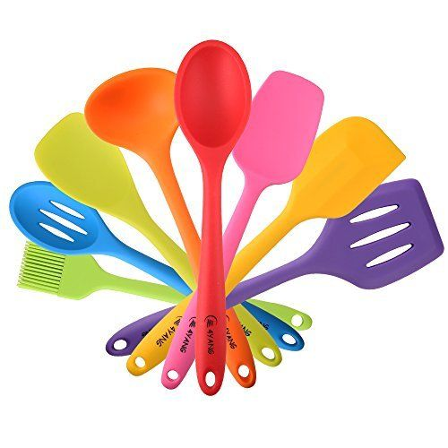 #2: 4YANG Silicone Spatula Cooking Utensil Set Heat Resistant Kitchen Gadgets (8 Pieces)-Includes:Turner Slotted spoon  Ladle Spoon Spoon Spatula Spoonula Spatula & Basting brush (Colorful) This is one of the best selling items in Kitchen  category in Canada. Click below to see its Availability and Price in YOUR country.