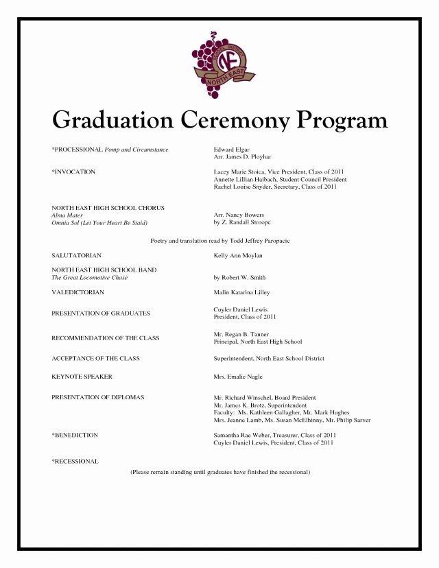 Graduation Party Program Template Beautiful Graduation Program