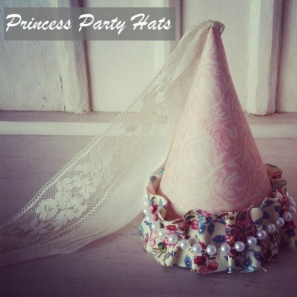 DIY Princess Party Hats By Bridgey Widgey. Great Photo