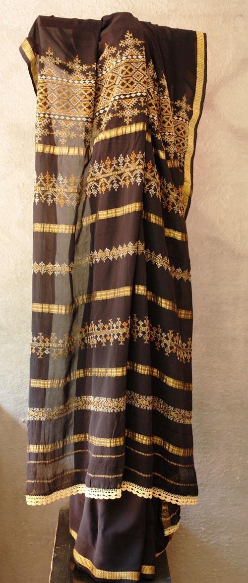 Ilkal Saree - Kasuti embroidery
