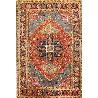amazing pasargad serapi navyred heriz rustic area rug u reviews wayfair with rustic rugs