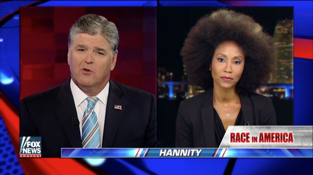 Sean Hannity Grills Former Miss Alabama For Saying Dallas Gunman Was a Martyr  Fox News host Sean Hannity absolutely tore into the first black Miss Alabama Tuesday night for calling the Dallas gunman who killed five police officers a martyr.  Kalyn Champan James first made the controversial comments during a Facebook Live video post claiming that while she feels the sniper is a martyr she also values human life. But Hannity didnt buy it.  Image source: Fox News screen grab  You say in that…
