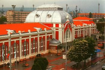 The city station in Varna, Bulgaria on the Black Sea Coast