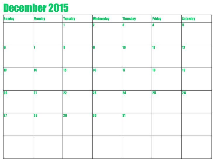 December 2015 Calendar Australia