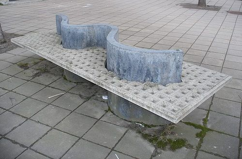 This Is An Example Of Hostile Architecture Designed To Prevent Homeless People From Using It As A Place To Rest Or Slee Architecture Design Design Architecture