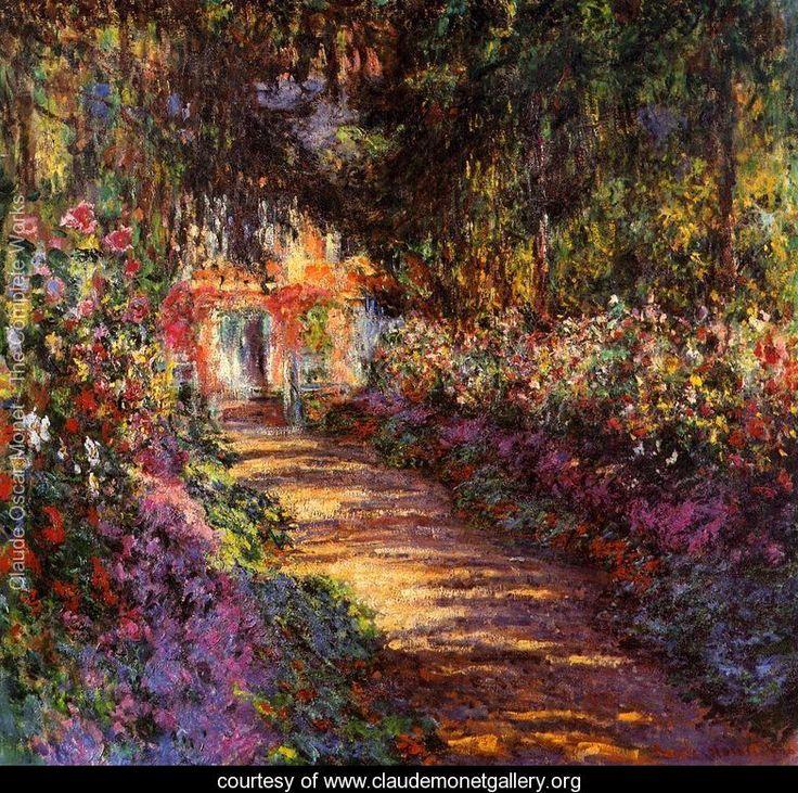 The Flowered Garden    Claude Oscar Monet