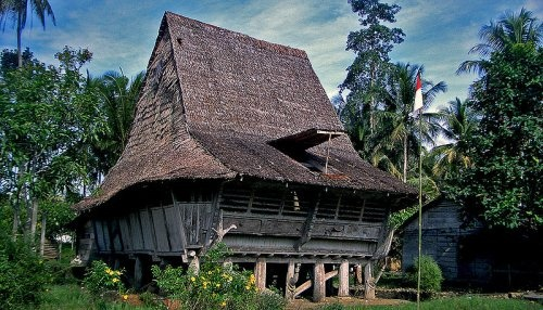 A house in Nias, Indonesia