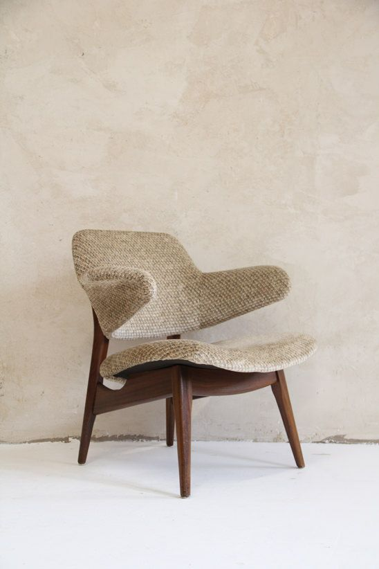 Louis Van Teeffelen; Teak Armchair for Webe, c1960.