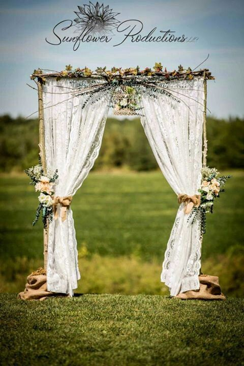 I LOVE THIS!!!! Awesome prop for pictures!!! Rustic Wedding Arches | Rustic Wedding arch my mom made me                                                                                                                                                     More