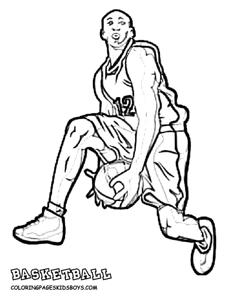 basketball coloring pages free mens basketball player coloring page to print