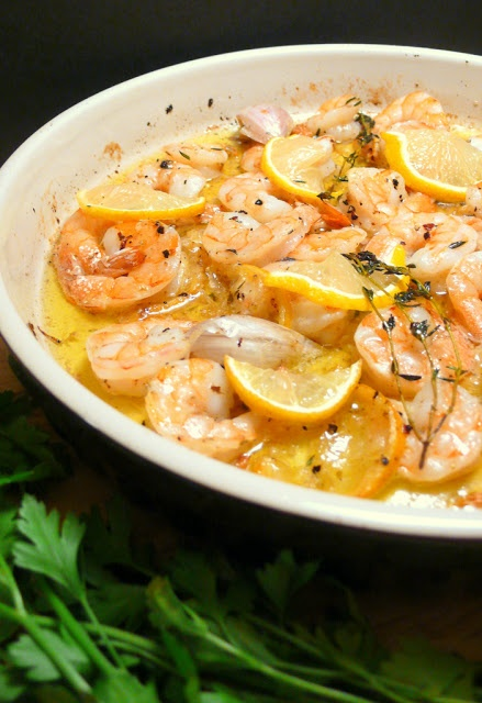 Joyously Domestic | Lemon, Herb & Garlic Baked Shrimp