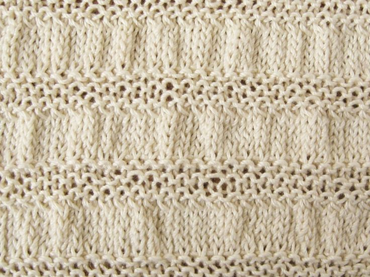 Knitting Gathered Stitches : Gathered Stripes Knitting Pattern Patterns, Stripes cast and Knits
