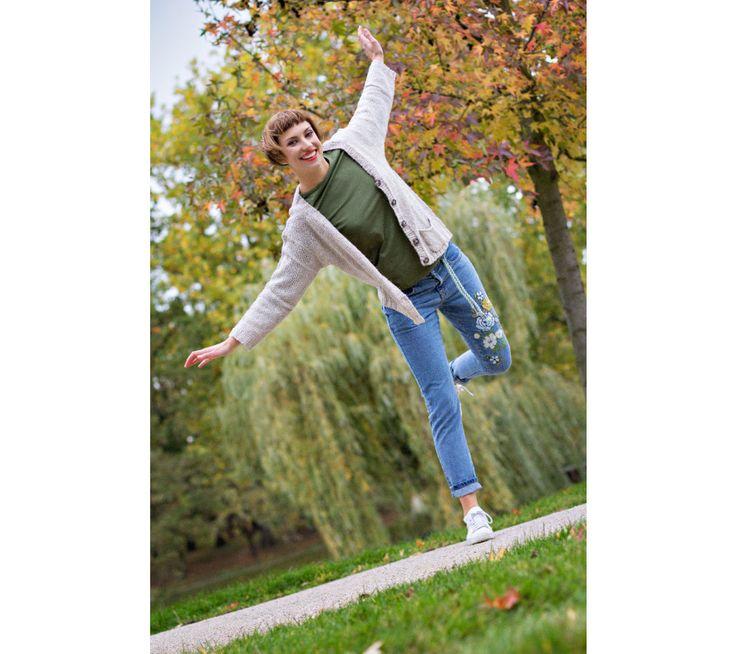Džíny s výšivkou | modino.cz #modino_sk #modino_style #style #fashion #newseason #autumn #fall