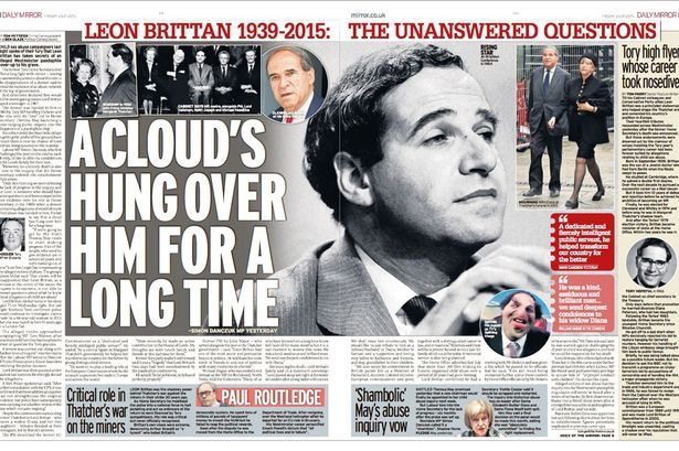 Mirror story: Leon Brittan sex allegations: A royal was in a suspected paedophile ring being investigated by police before an Establishment cover up, it was claimed. A former Metropolitan Police officer said he was told a member of the Queen's family and an MP had both been identified as part of a major child abuse inquiry. But the operation is said to have been shut down by the Crown Prosecution Service for national security reasons.