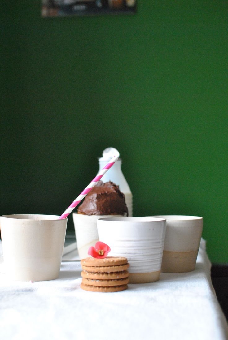 For milk, for coffee, for tea, for ice cream! Handmade ceramic cups for any use!