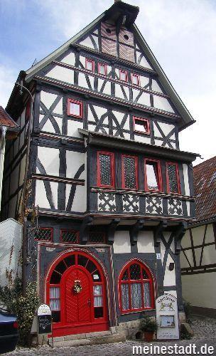 Old timber framed house inTreffurt, Thuringia, Germany