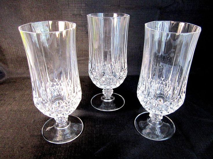 Crystal Water Tea Tumblers Cristal d Arques Longchamp