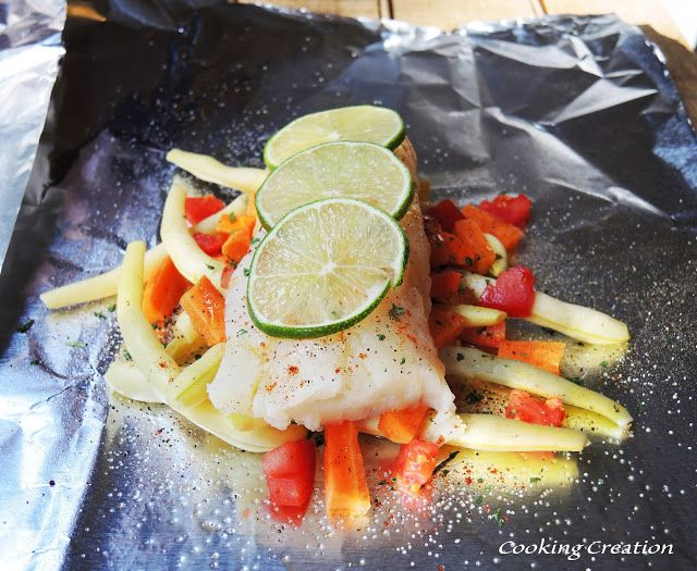 Grilled Zesty Haddock & Vegetable Foil Packets