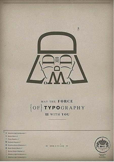 //Advertising Agency, Darth Vader, Types Posters, Typography Posters, Star Wars, Graphics Design, Dark Side, Stars Wars, Starwars