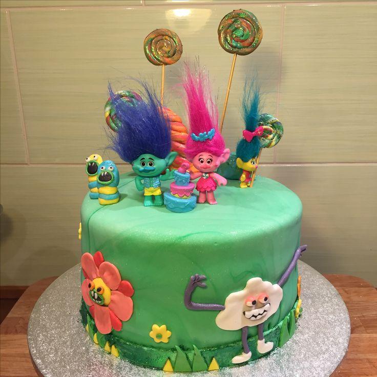 Trolls cake #trollscake #poppy
