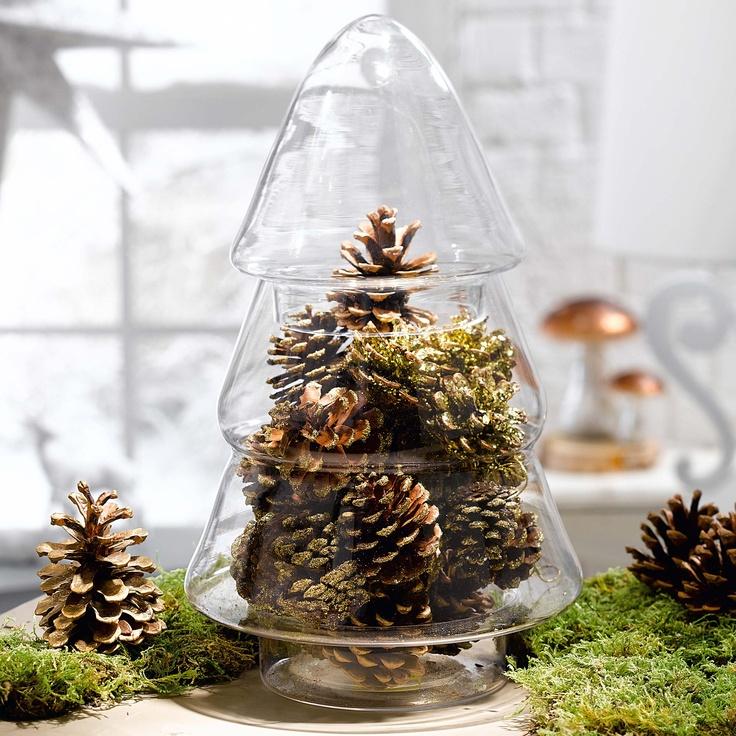 Glasdose tanne gingar weihnachten christmas for Obi tannenbaum