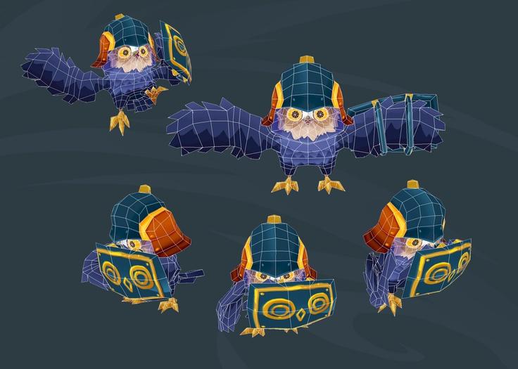 Owl Gaurds Wireframes #CharacterDesign #Gamedesign #MomongaPinballAdventures